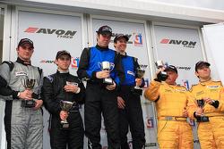 GT4 oodium winners Matt Nichol-Jones and Stewart Linn