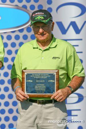 Don Garlits receiving grand marshal award