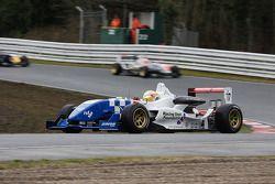 Oliver Turrvey Carlin Motorsport at Lodge Corner