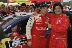 Sébastien Loeb with Football legend Diego Maradona