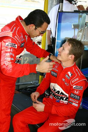 Helio Castroneves et Ryan Briscoe