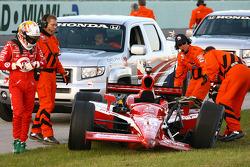Dan Wheldon après son accident