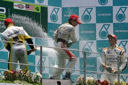 Sprint Race Podium champagne celebration