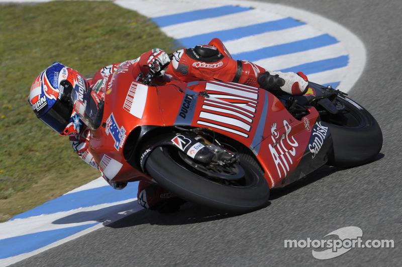 Casey Stoner llevó el 1 tras ganar en 2007 la corona con Ducati