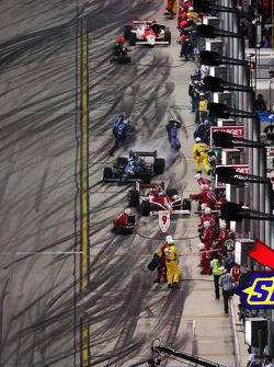 Action on pit lane