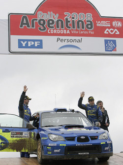 Podium: second place Chris Atkinson and Stéphane Prévot
