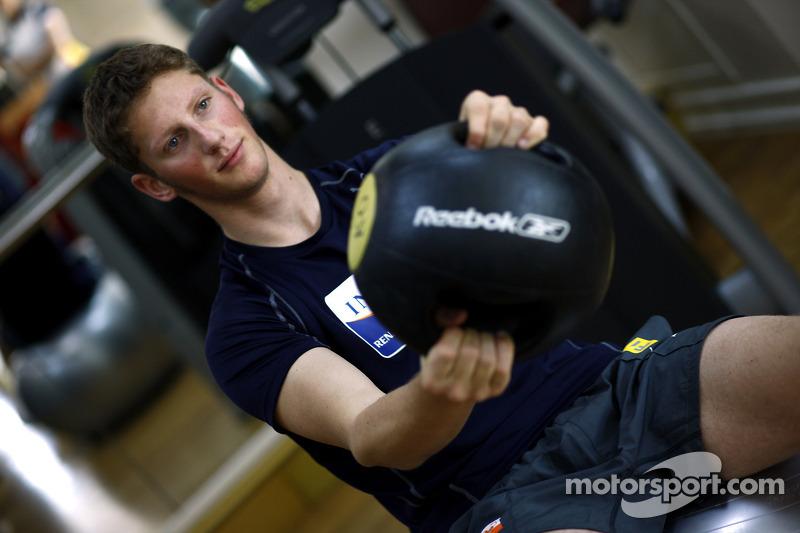 Renault F1 kampı Bahreyn: Romain Grosjean, Renault R28 gym