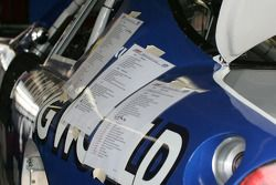 Check list taped to Kevin Harvick's car