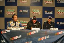 Kevin Harvick, Clint Bowyer and David Reutimann
