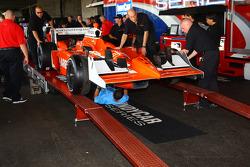 Car of Franck Perera at tech inspection