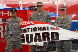 National Guard men and women pose