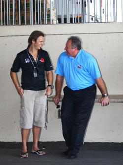 Dan Wheldon and Brian Barnhart
