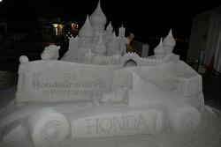 Honda inspired sandcastle