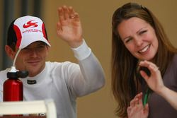Anthony Davidson, Super Aguri F1 Team and his wife Carrie