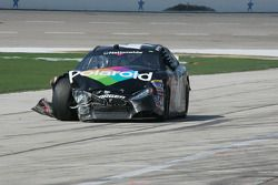 Kyle Krisiloff's damaged car