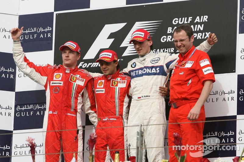 Raikkonen foi o segundo e o polonês Robert Kubica o terceiro com a BMW-Sauber