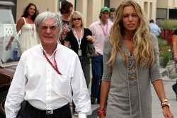 Bernie Ecclestone, President and CEO of Formula One Management and Petra Ecclestone, Daughter of Ber