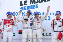 LMP1 podium: class and overall winners Nicolas Minassian and Marc Gene