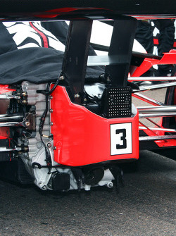 Detail of Helio Castroneves' car