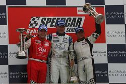 Podium: race winner Uwe Alzen, second place Gianni Morbidelli, third place David Terrien