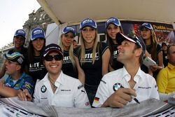 Parade in the city of Puebla with teams and drivers, Andy Priaulx, BMW Team UK, BMW 320si WTCC and Jorg Muller, BMW Team Germany, BMW 320si