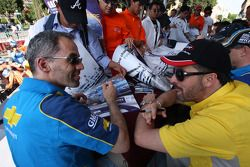 Parade in the city of Puebla with teams and drivers, Alain Menu, Chevrolet, Chevrolet Lacetti