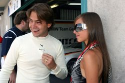 Augusto Farfus, BMW Team Germany, BMW 320si and his wife Liri