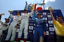 Podium, Rickard Rydell, Seat Sport, Seat Leon TDI, Jordi Gene, Seat Sport, Seat Leon TDI, Nicola Lar