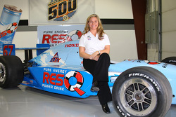 Sarah Fisher announced an impressive lineup of sponsors for her effort in the 92nd Indianapolis 500