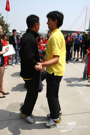 Aaron Lim, driver of A1 Team Malaysia and Alex Yoong, driver of A1 Team Malaysia