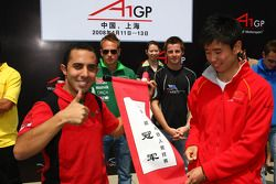 Khalil Beschir, driver of A1 Team Lebanon and Congfu Cheng, driver of A1 Team China