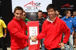 Filipe Albuquerque, driver of A1 Team Portugal and Congfu Cheng, driver of A1 Team China