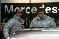 Ralf Schumacher, Mücke Motorsport AMG Mercedes, Portrait, talking with Norbert Haug, Sporting Direct