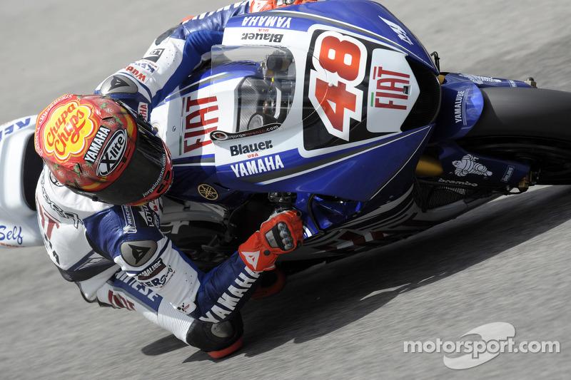 Jorge Lorenzo en sus inicios con la Yamaha