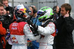 Martin Tomczyk, Audi Sport Team Abt Sportsline Red Bull Audi A4 DTM 2008 and Timo Scheider, Audi Spo