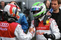 Tom Kristensen, Audi Sport Team Abt Audi A4 DTM 2008 and Timo Scheider, Audi Sport Team Abt GW:plus/