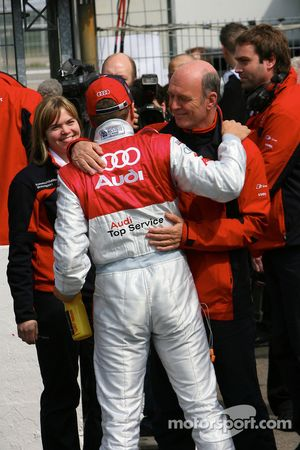 Timo Scheider, Audi Sport Team Abt GW:plus/Top Service Audi A4 DTM 2008 and Wolfgang Ullrich, Audi,