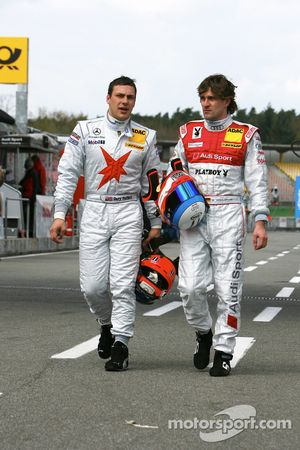 Gary Paffett, Stern AMG Mercedes C-Klasse 2007 and Markus Winkelhock, Audi Sport Team Rosberg Playbo