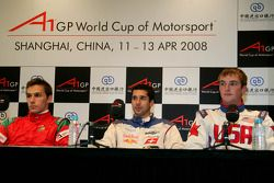 Press Conference: Filipe Albuquerque, driver of A1 Team Portugal, Neel Jani, driver of A1 Team Switzerland, Jonathan Summerton, driver of A1 Team USA