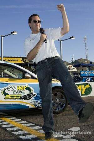 Jared Fogle commands the drivers to