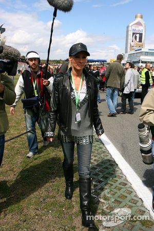 Cora Schumacher, wife of Ralf Schumacher, on the grid for DTM TV