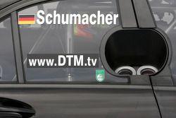 Side panel of the car of Ralf Schumacher, Mücke Motorsport AMG Mercedes, AMG Mercedes C-Klasse