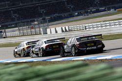 Александр Према, Audi Sport Team Phoenix, Audi A4 DTM едет впереди Маркуса Винкельхока, Audi Sport Team Rosberg, Audi A4 DTM и Пола ди Ресты, Team HWA AMG Mercedes, AMG Mercedes C-Klasse