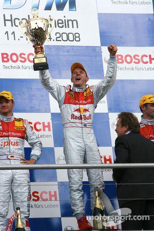 Podium: race winner Mattias Ekström