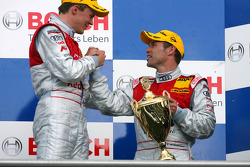 Podium: race winner Mattias Ekström with Tom Kristensen