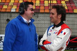 Eric Boullier, Team Manager of A1Team France and Franck Montagny, driver of A1 Team France