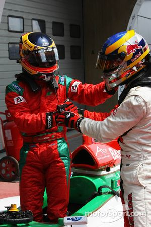 Filipe Albuquerque, driver of A1 Team Portugal and Neel Jani, driver of A1 Team Switzerland