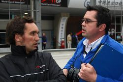 Franck Montagny, driver of A1 Team France and Eric Boullier, Team Manager of A1Team France