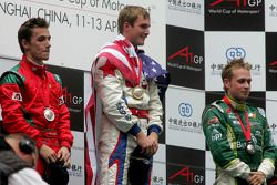 Winner, 1st, Jonathan Summerton, driver of A1 Team USA, 2nd, Filipe Albuquerque, driver of A1 Team P