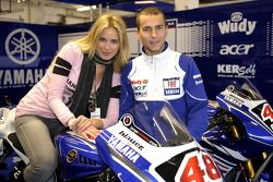 Jorge Lorenzo with the charming Vanessa Romero